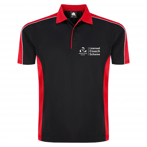 Polo Shirt Black/Red (H1198) Angling Trust