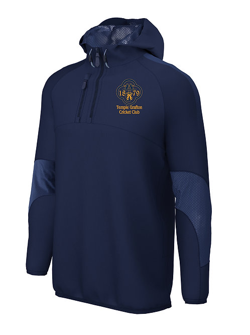 1/4 Zip Shell Jacket (E873) - Navy - Temple Grafton CC