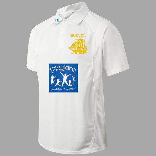 Junior Cricket Shirt  (H1)  Cream - Stourport CC
