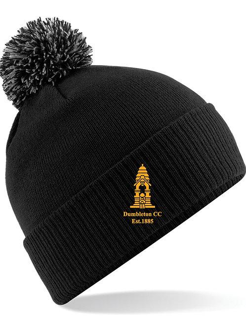 Bobble Hat (B450) Black - Dumbleton CC