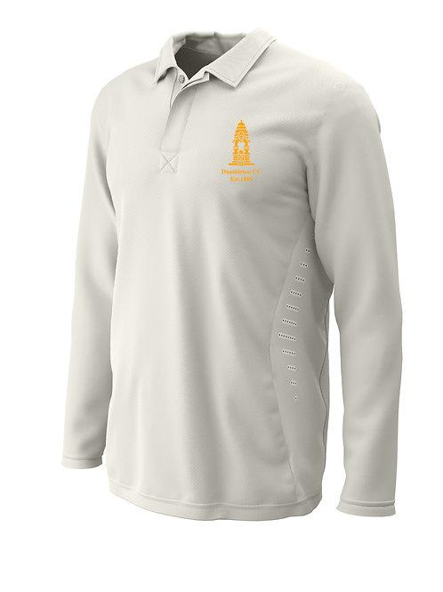 Cricket Shirt L/S (H2) Cream - Dumbleton CC