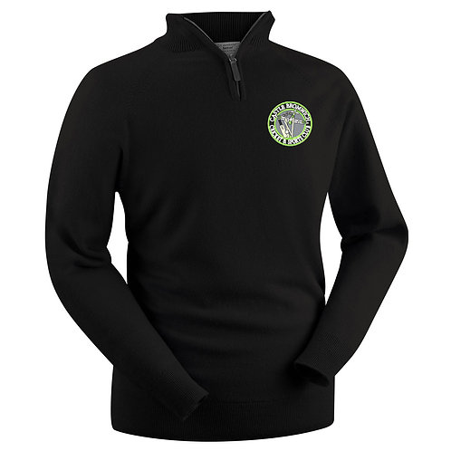 Glenbrae Lambswool 1/4 Zip Sweater - Black - Castle Bromwich CC