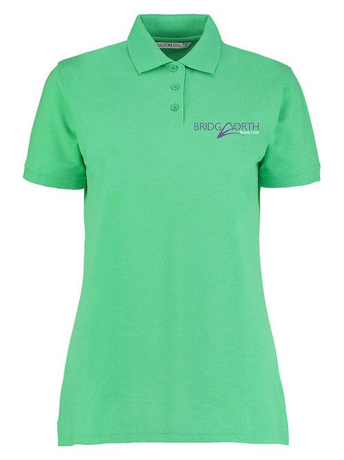 Polo Shirt Ladies, (KK703) Apple Green, Bridgnorth Tennis Club