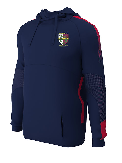 Hoodie (E874) Navy/Red - Claverley CC