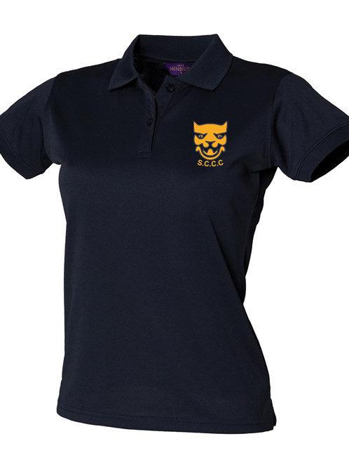 Ladies Fit Polo Shirt (HB476) Navy - Shropshire CCC Members