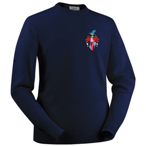 Glenbrae Round Neck Lambswool Sweater - Navy - Redditch