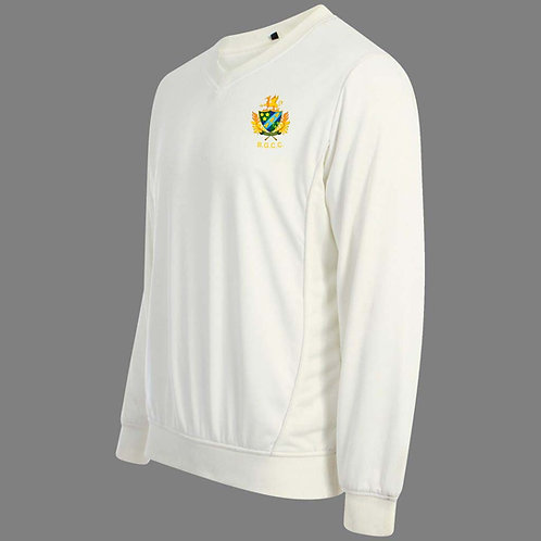 Cricket Sweater L/S (C7) Cream - Barnt Green