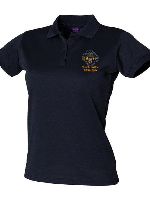 Lady Fit Polo Shirt (HB476) Navy- Temple Grafton CC