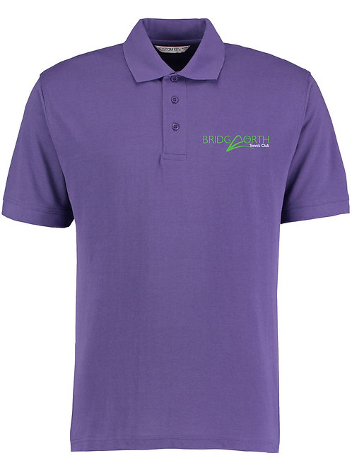 Polo Shirt Senior, (KK403) Purple, Bridgnorth Tennis Club