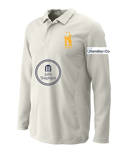 Cricket Shirt L/S (H2) - Cream - Knowle & Dorridge