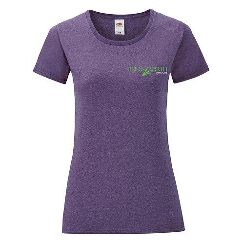 T Shirt Ladies Cotton, (61432) Purple, Bridgnorth Tennis Club