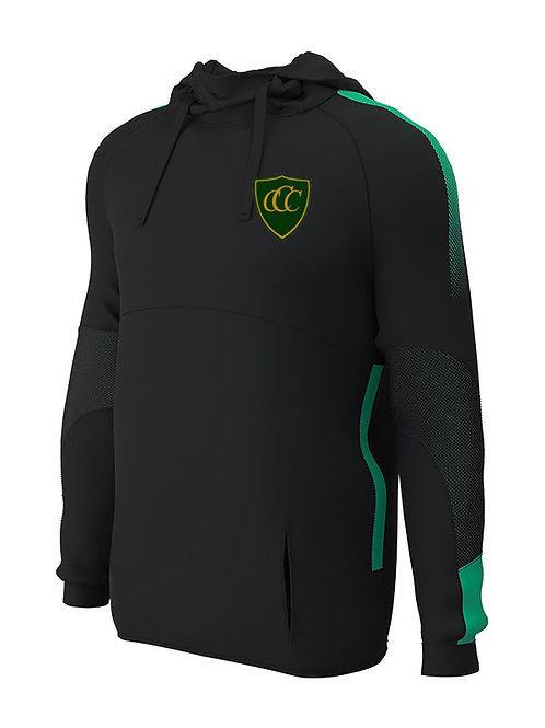 Hoodie, (E874) Black/Green, Chelmarsh