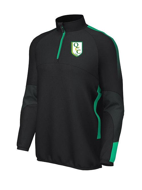 1/4 Zip Mid Layer (E868) Black/Green - Quatt CC
