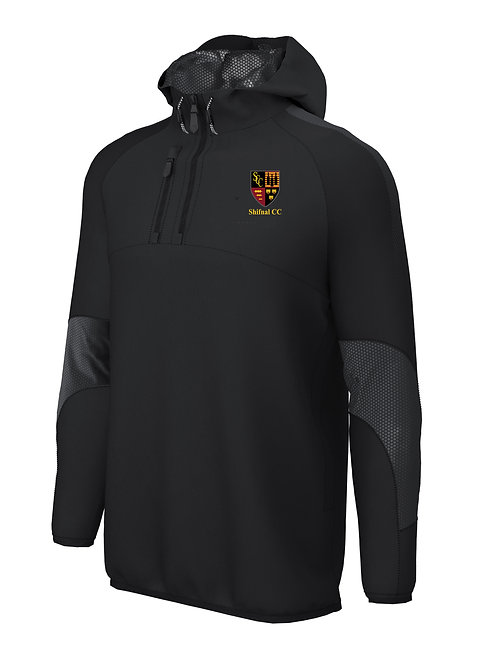 1/4 Zip Shell Jacket (E873) - Black - Shifnal CC