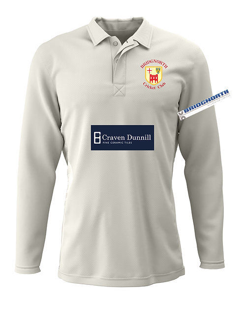 Cricket Shirt L/S (H2) Cream  Bridgnorth CC