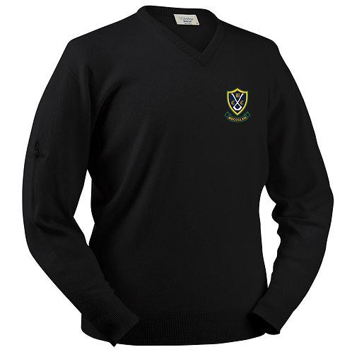 Glenbrae V Neck Lambswool Sweater - Black - Belbroughton CC