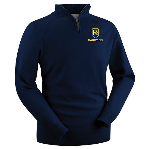 Glenbrae Lambswool 1/4 Zip Sweater - Navy - Barby