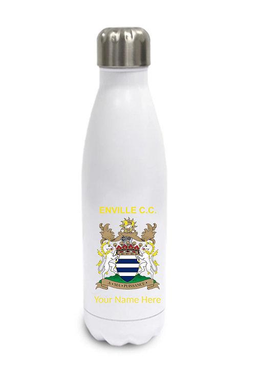Water Bottle (inc name) - White - Enville