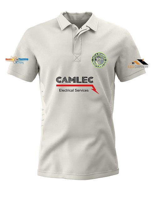 Cricket Shirt S/S (H1) Cream - Castle Bromwich CC
