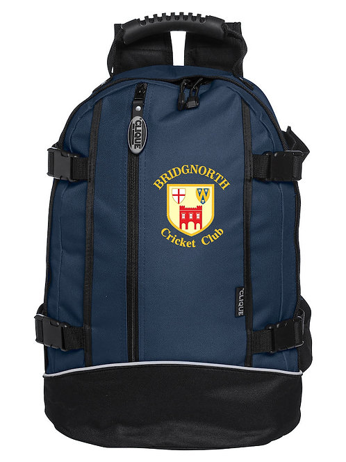 Back Pack (040207) - Navy/Black - Bridgnorth CC