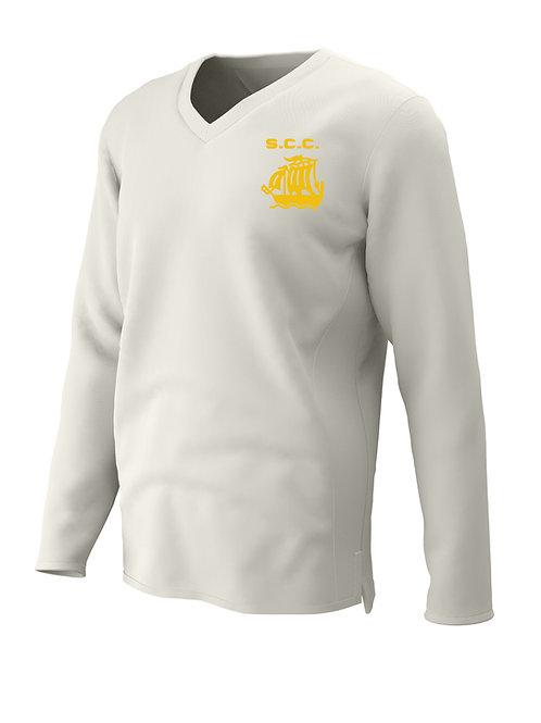 Cricket sweater L/S (C7) Cream - Stourport CC