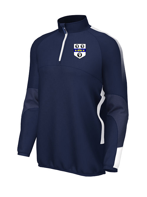 1/4 Zip Mid Layer (E868) Navy/White - Old Moseley Arms CC