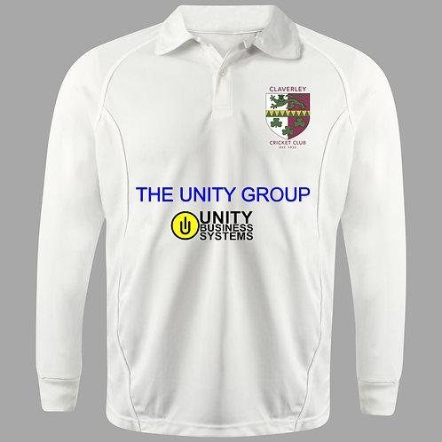 Cricket Shirt (H2) L/S - Cream - Claverley CC