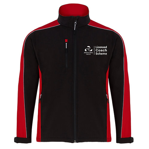 Softshell Jacket Black/Red (H4288) Angling Trust