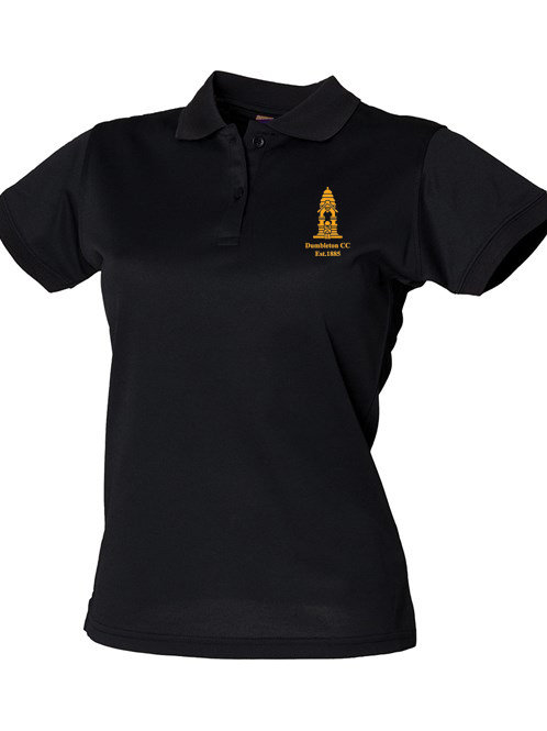 Ladies Fit Polo Shirt (HB476) Black - Dumbleton