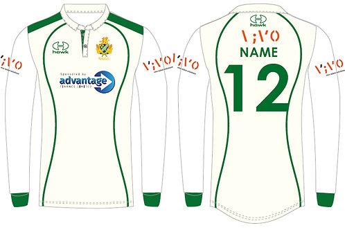 Bespoke Cricket Shirt L/S - Barnt Green CC