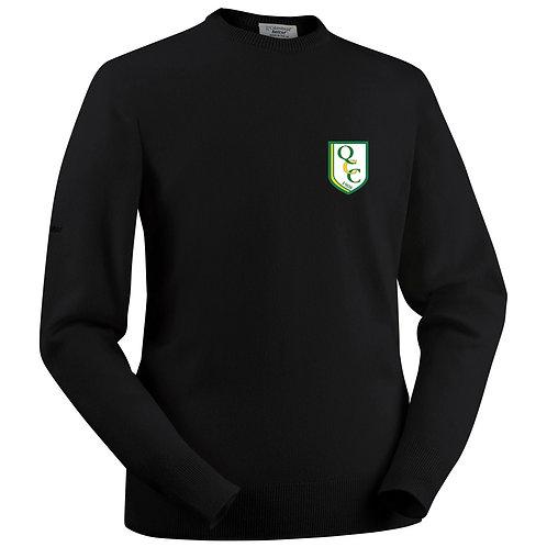 Glenbrae Round Neck Lambswool Sweater - Black - Quatt CC
