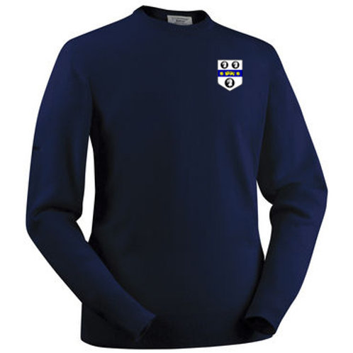 Glenbrae Lambswool Roundneck Sweater - Navy- Old Moseley Arms CC