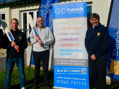 Shropshire CCC agree two-year partnership with Hawk Cricket