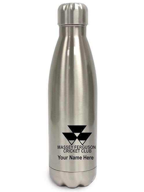 Water Bottle (inc name) - White or Silver -Massey Ferguson
