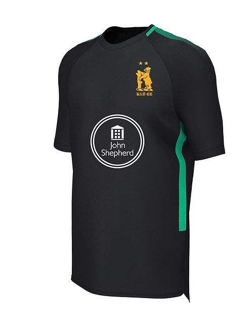 Training Tee (E865) Black/Green - Knowle & Dorridge