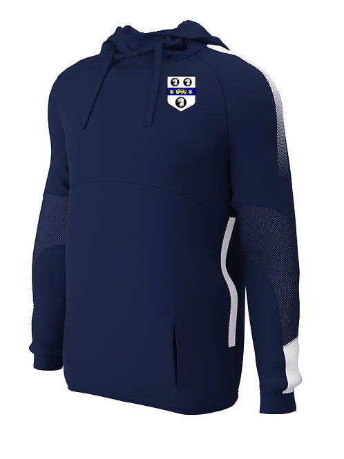 Hoodie (E874) Navy/White - Old Moseley Arms CC