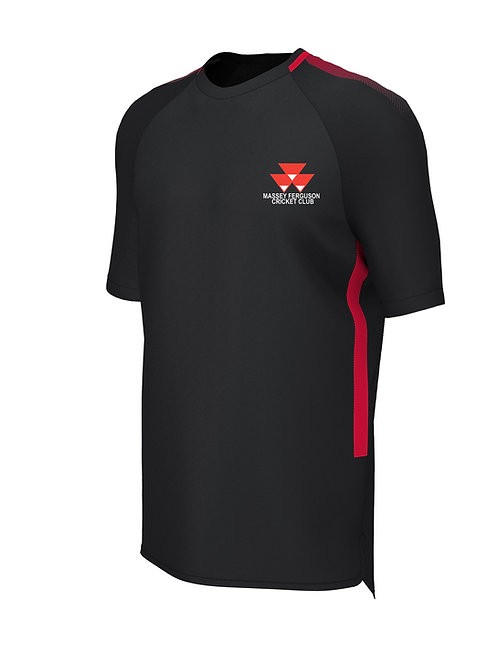 Training Tee (E865) Black/Red - Massey Ferguson