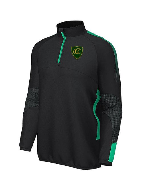 Pro Mid layer 1/4 Zip, (E868) Black/Green, Chelmarsh