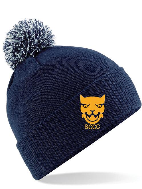 Bobble Hat - Navy - Shropshire CCC Members