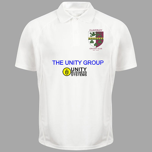 Cricket Shirt (H1) S/S - Cream - Claverley CC