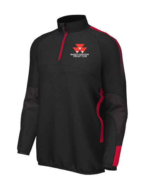 Pro 1/4 Zip Mid Layer (E868) Black/Red - Massey Ferguson CC