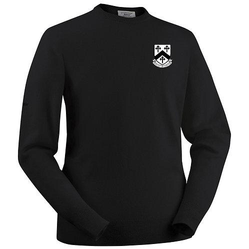 Glenbrae Round Neck Lambswool Sweater - Black - Worfield