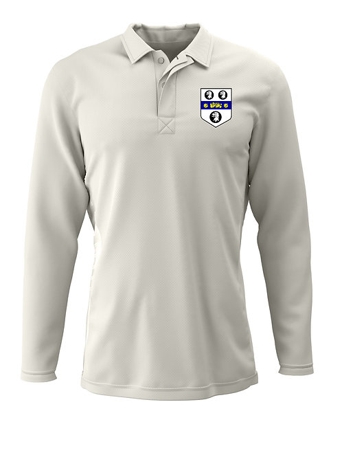 Cricket Shirt L/S (H2) Cream - Old Moseley Arms CC