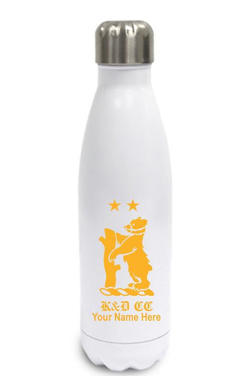 Water Bottle (inc name) White - Knowle & Dorridge