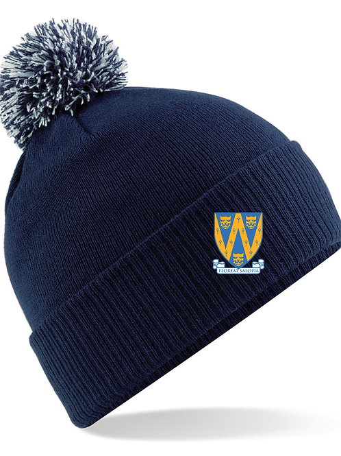 Bobble Hat (B450) Navy - Shropshire County Hockey