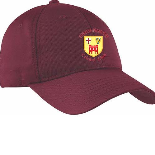 Baseball Style Cap - Maroon - Bridgnorth CC
