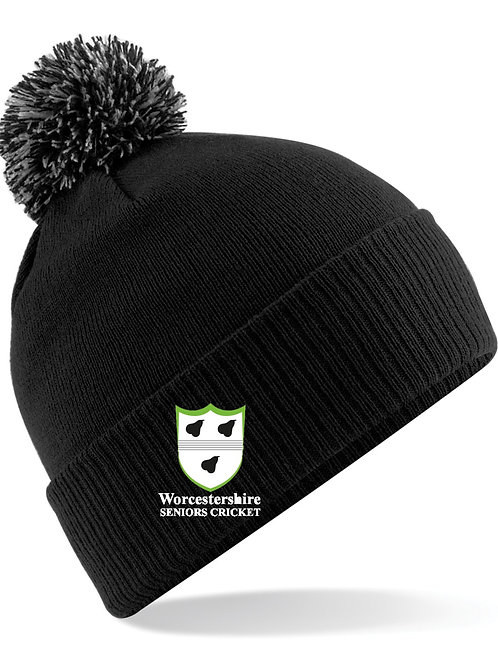 Ski Hat(B450) Black Worcs Seniors