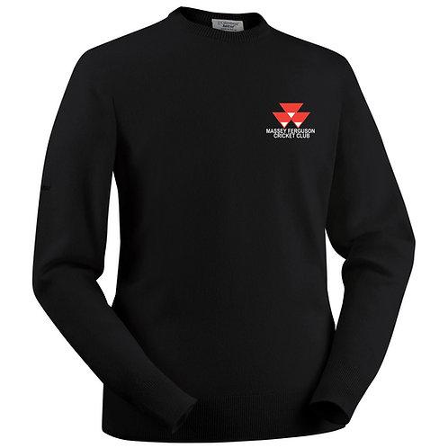 Glenbrae lambswool Roundneck Sweater - Black - Massey Ferguson CC
