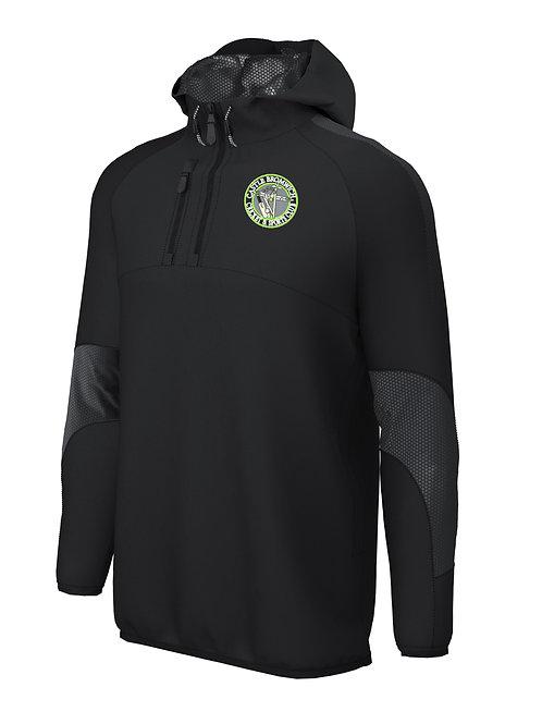 1/4 Zip Shell Jacket (E873) Black/Green - Castle Bromwich CC