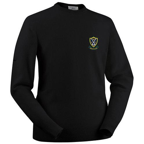 Glenbrae Round Neck Lambswool Sweater - Black - Belbroughton CC